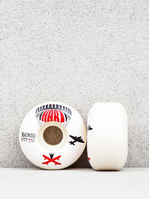 Kolieska Bones Hart Drop Boards Streettech Formula V1 (white/black/red)