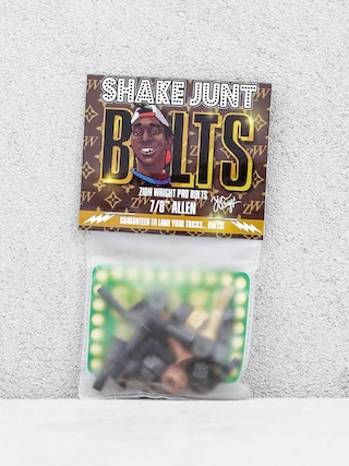 Skrutky Shake Junt Zion Wright Pro Bolts Allen (black/brown/gold)