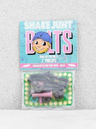 Skrutky Shake Junt Jamie Foy Pro Bolts (black/pink/teal)