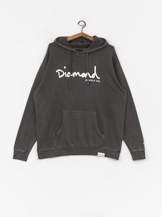 Mikina Diamond Supply Co. Og Script Pigment Overdye (black)