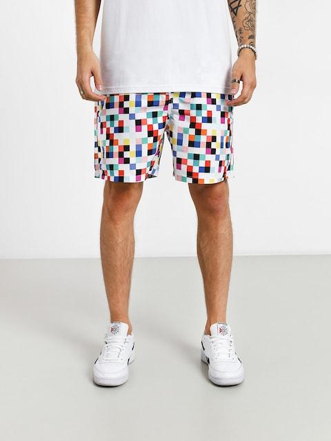Plážové kraťasy Diamond Supply Co. Pixel Board Shorts (white)