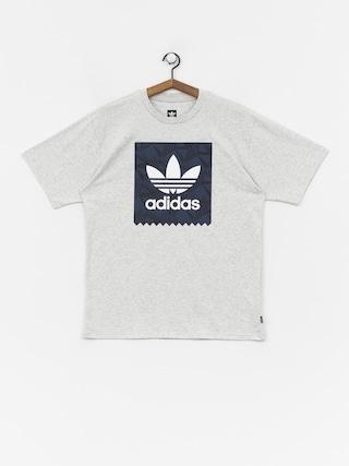 Tričko adidas Bb Print 1 (light grey heather/black/collegiate navy/white)