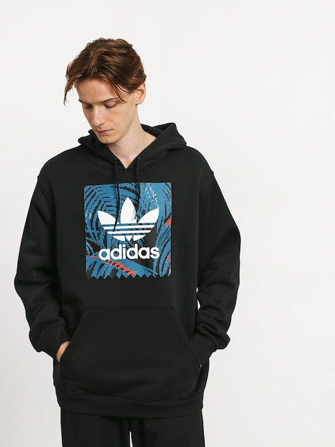Mikina s kapucňou adidas Bb Print HD (black/active teal/active orange)