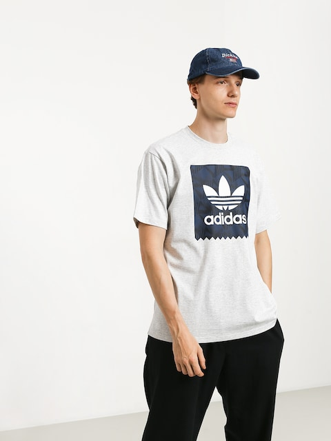 Tričko adidas Bb Print 1 (light grey heather/black/collegiate navy/white)