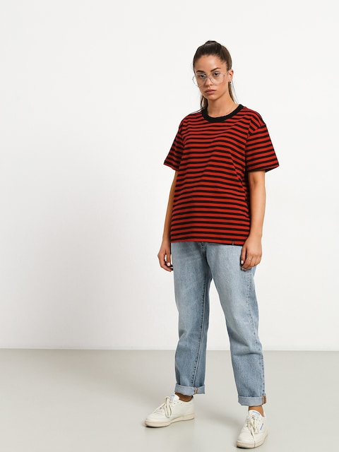 Tričko The Hive Stripe Wmn (black/red)