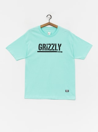 Tričko Grizzly Griptape Stamp (miny/black)