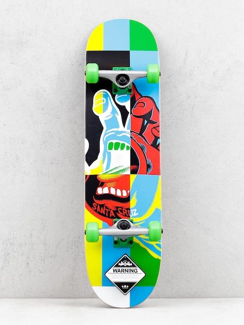 Skateboard Santa Cruz Hand Blocker (blue/green)