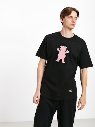 Tričko Grizzly Griptape Og Bear (black/pink)