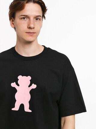 Tričko Grizzly Griptape Og Bear (black/pink)
