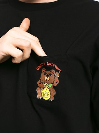 Tričko Grizzly Griptape Lucky Bear Pocket (black)