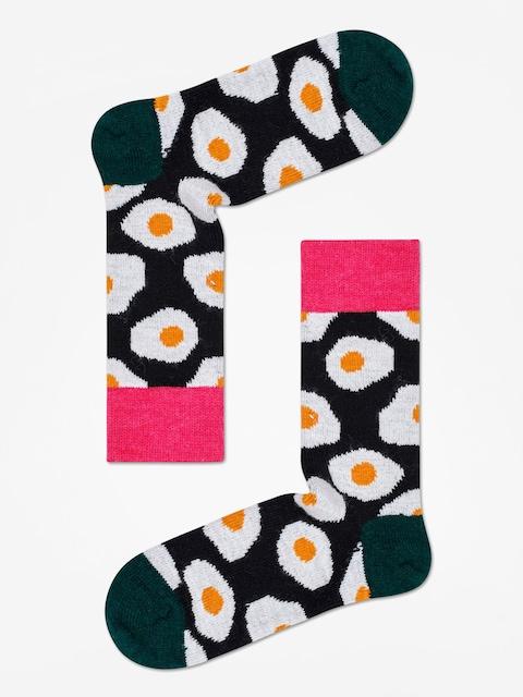 Ponožky Happy Socks Wool Sunny Side Up (black/dark green)