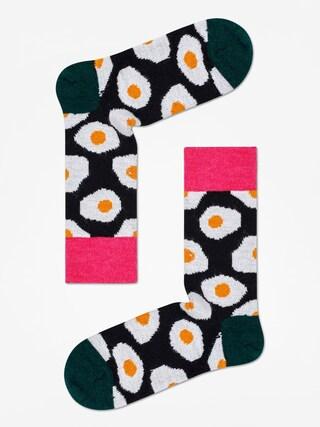 Ponou017eky Happy Socks Wool Sunny Side Up (black/dark green)