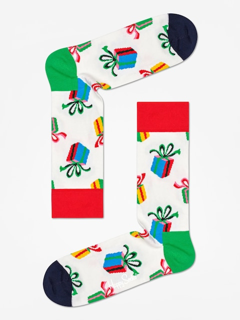 Ponožky Happy Socks Presents (white)