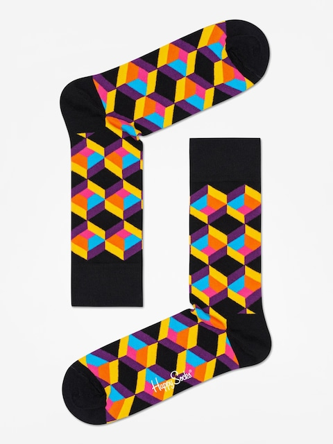 Ponožky Happy Socks Optiq Square (black/multi)