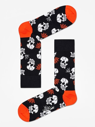 Ponožky Happy Socks Halloween Skull (black/orange)