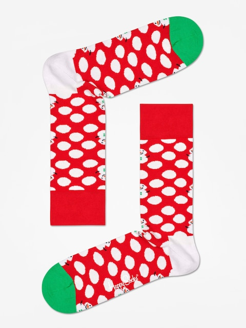 Ponožky Happy Socks Big Dot Snowman (red/white)