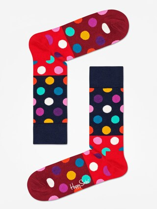 Ponožky Happy Socks Big Dot Block (navy/red/maroon)