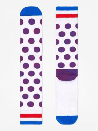 Ponožky Happy Socks Athletic Big Dot (white)