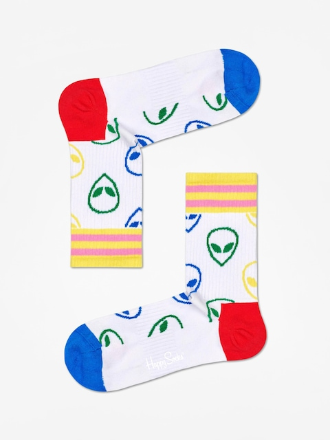 Ponožky Happy Socks Athletic Alien Mid High (white)