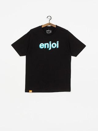 Tričko Enjoi Helvetica Neue (black)