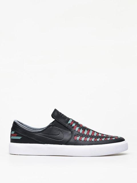 Topánky Nike SB Zoom Janoski Slip Rm Crafted (black/black bicoastal team red)