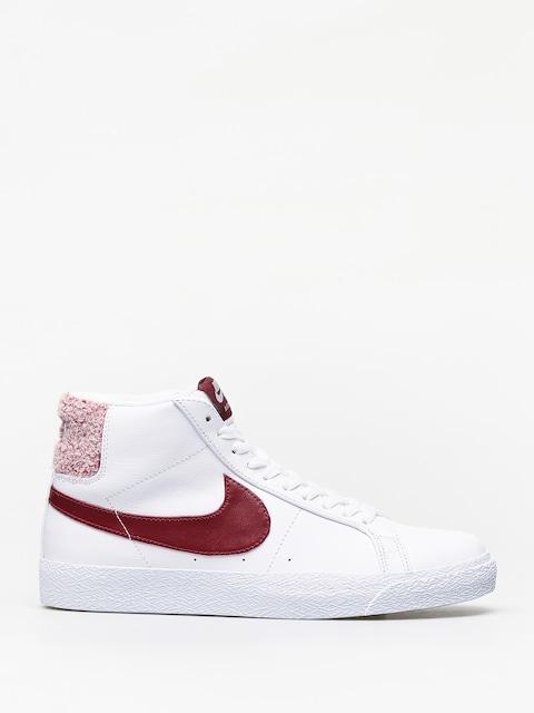 Topánky Nike SB Zoom Blazer Mid Prm (white/team red)