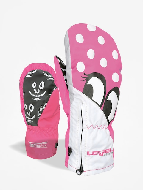 Rukavice Level Lucky Mitt (fucsia)