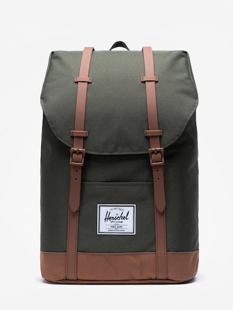 Batoh Herschel Supply Co. Retreat (dark olive/saddle brown)