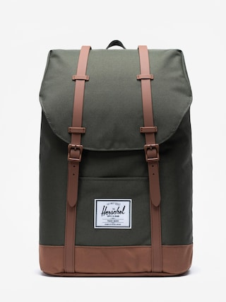 Batoh Herschel Supply Co. Retreat (dark olive/saddle brown)