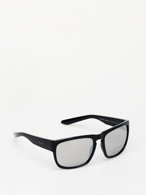 Slnečné okuliare Dragon Rune XL (shiny black/silver ion)