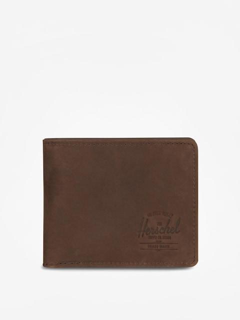 Peňaženka Herschel Supply Co. Hank Coin Leather Rfid (nubuck brown)