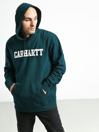 Mikina s kapucu0148ou Carhartt WIP College HD (dark fir/white)