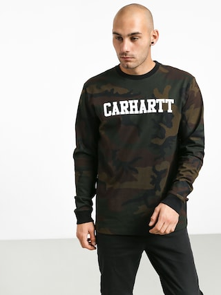 Triko Carhartt WIP College (camo evergreen/white)