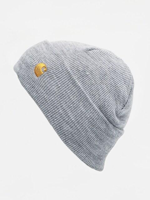 Čiapka Carhartt WIP Chase (grey heather/gold)