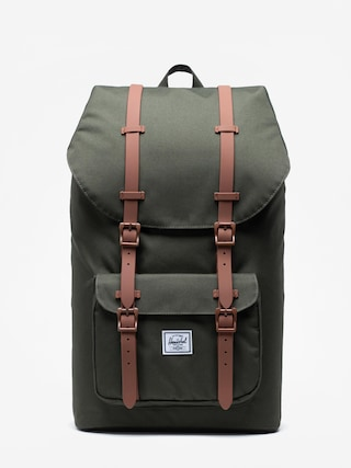 Batoh Herschel Supply Co. Little America (dark olive/saddle brown)