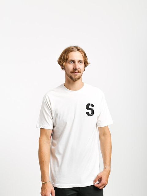 Tričko Supra Stencil (white/black)