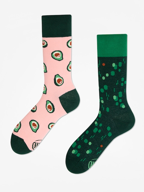 Ponožky Many Mornings Green Avocado (pink/green)