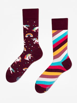 Ponožky Many Mornings The Unicorn (burgundy)