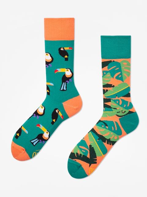 Ponožky Many Mornings Tropical Heat (green/coral)