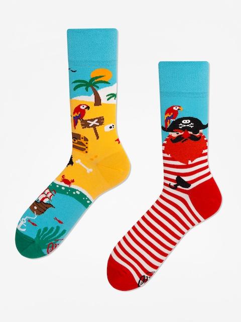 Ponožky Many Mornings Pirate Island (blue/red)