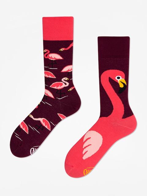 Ponožky Many Mornings Pink Flamingo (pink/brown)