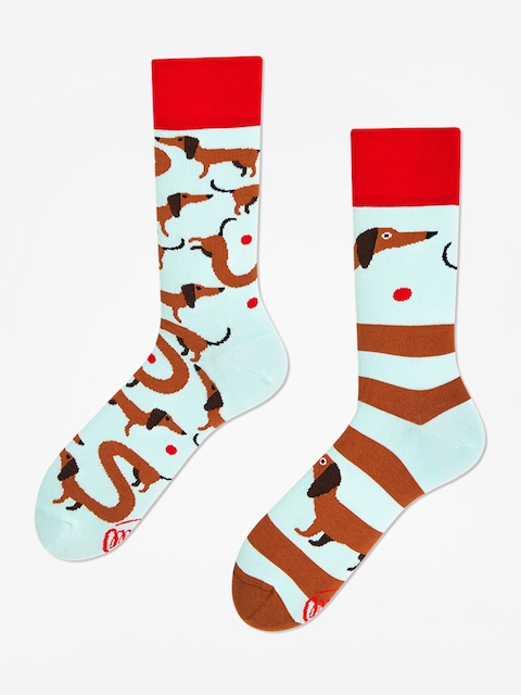 Ponožky Many Mornings Sausage Dog (light blue/brown)