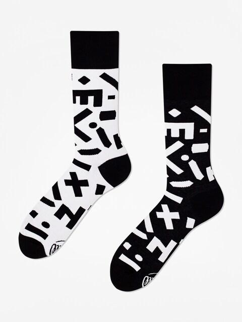 Ponožky Many Mornings Random Forms (black/white)