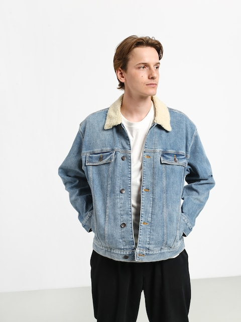 Bunda Quiksilver Denim Jacket Sherpa (blue used)