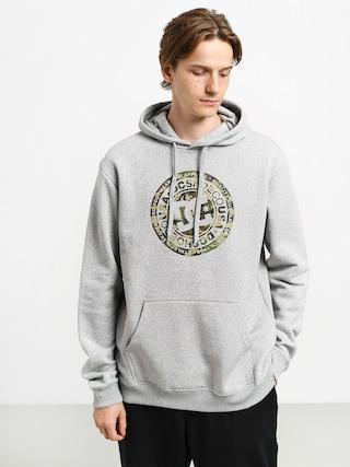 Mikina s kapucňou DC Circle Star HD (grey heather/camo)
