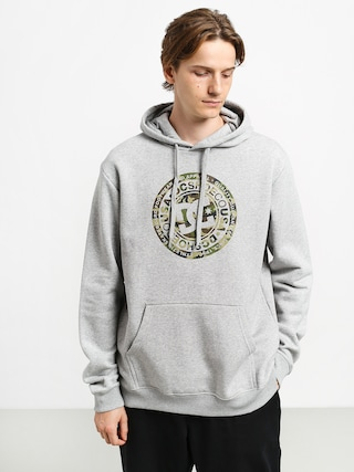 Mikina s kapucu0148ou DC Circle Star HD (grey heather/camo)
