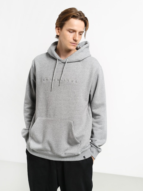 Mikina s kapucňou Quiksilver Emboss HD (medium grey heather)