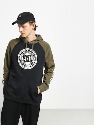 Mikina s kapucňou DC Circle Star HD (black/fat gr/anti w)