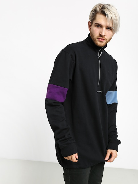 Mikina Volcom Rixon Fleece Crew (black)