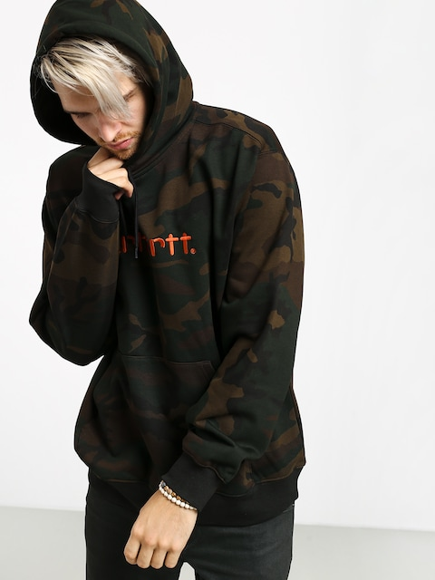 Mikina s kapucňou Carhartt WIP Carhartt HD (camo evergreen/brick orange)
